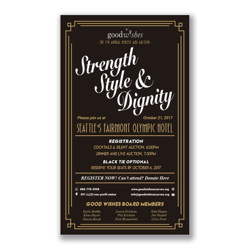 Strength Style & Dignity Invitation
