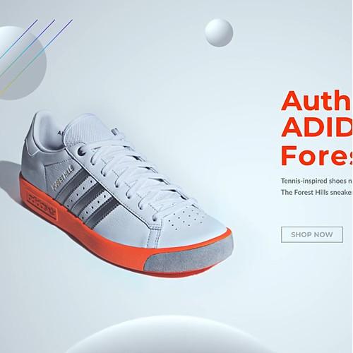 Adidas Clean Web UI