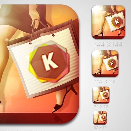 Icon Design for iOS Fashion Kaleidoscope