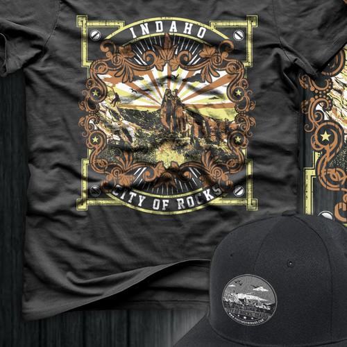 Iconic Idaho - Modern landmark designs for apparel