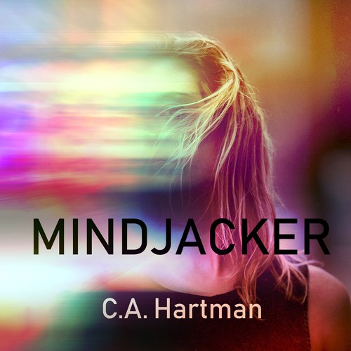 Book cover design for sci-fi MindJacker