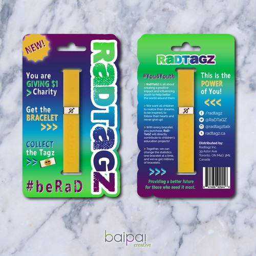 RaDTaGZ Bracelet Packaging