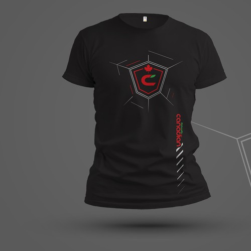 T-shirt Design For Canadian Fitness Brand