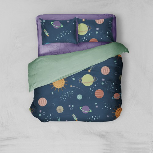 Space pattern for bedding