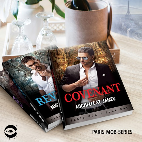 "Book covers for ""Paris Mob Series"" by Michelle St. James"