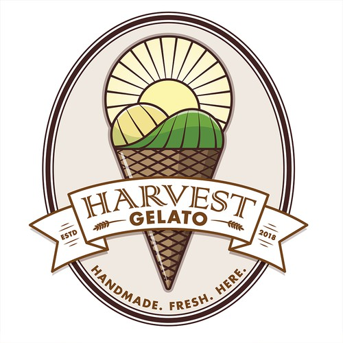 Logo design for an Ice Cream company that use natural ingredients.