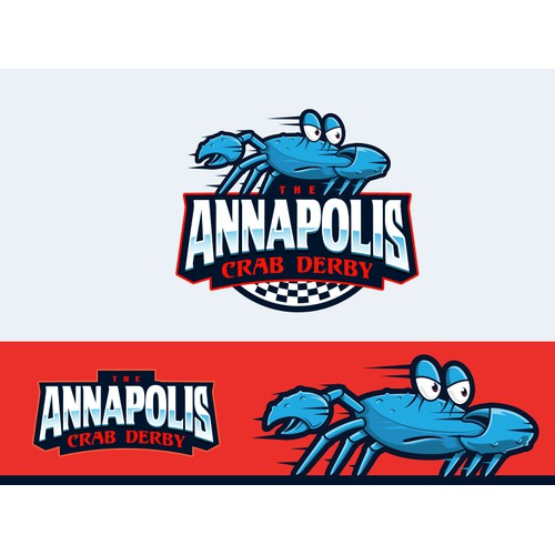 A playful blue crab  for the Annapolis Crab Derby