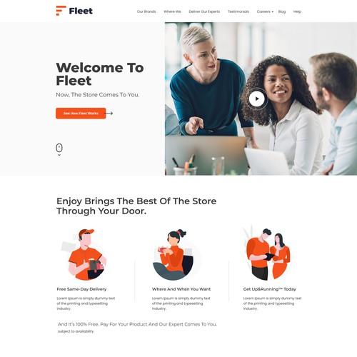 Landing Page Design For FLEET