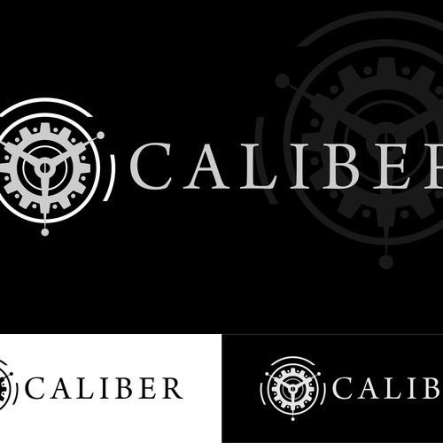 """Create a logo for """"Caliber"""" a luxury watch product website"""