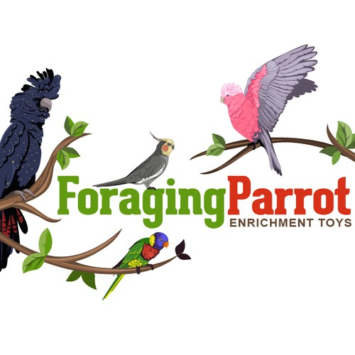 Create a winning logo for a Parrot toy range