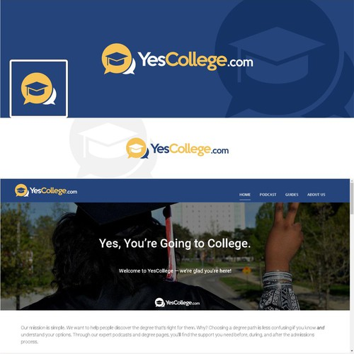 a clean and exciting logo for an education site