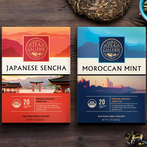 Tea boxes, packaging design