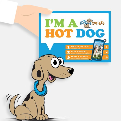 I'm a Hot Dog! Postcard