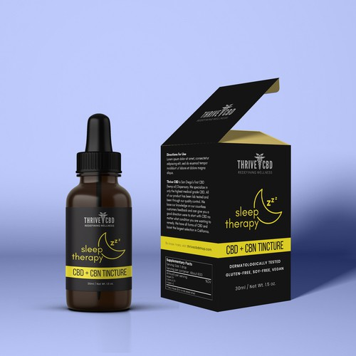 ThriveCBD's Tincture Packaging