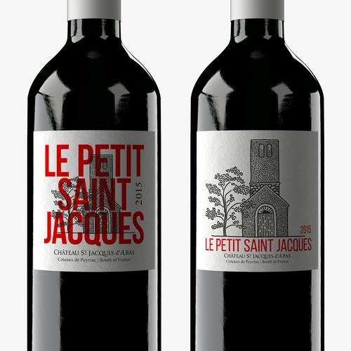 Eye catching and elegant wine label