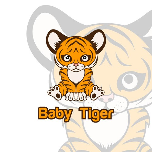 Logo character with Baby Tiger concept