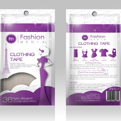 Clothing Tape Packaging Design