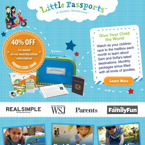 Help Little Passports  with a new banner ad