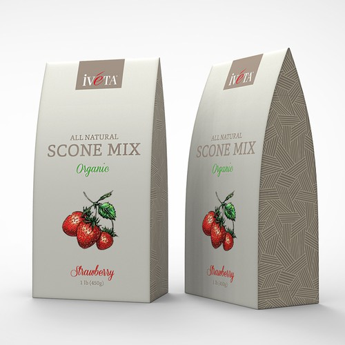 Create a package for great-tasting, organic scone mixes