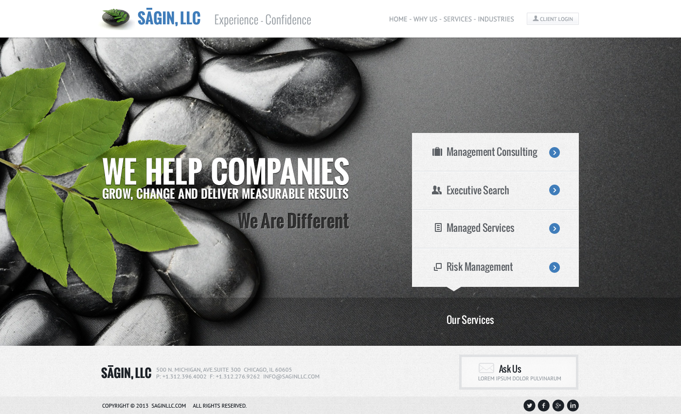 New website design wanted for SAGIN, LLC