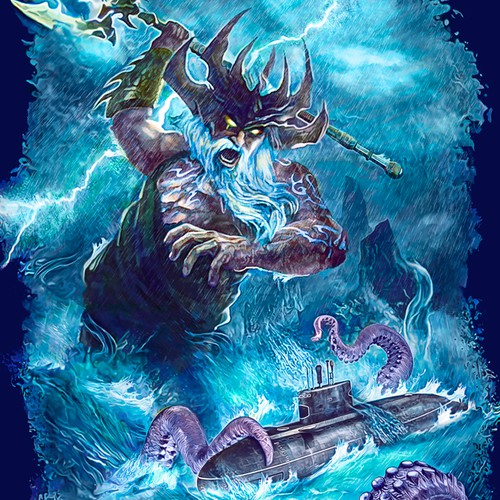 Navy Shirt Graphic