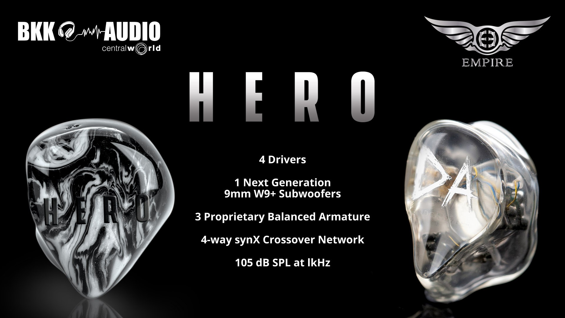 Rollup print and ads for our New CIEMs/UIEMs Empire Ears Odin and Hero