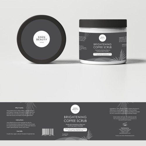 Product Label for Eden Beauty