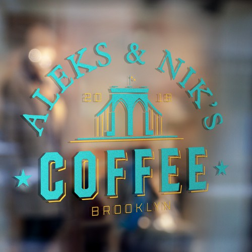 Vintage Design Concept for Aleks & Nik's Coffee