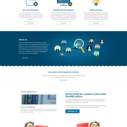 Fresh design for a new Concrete5 web development agency