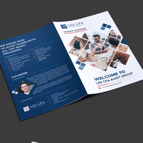 Brochure for a CPA firm to be distributed to prospective clients