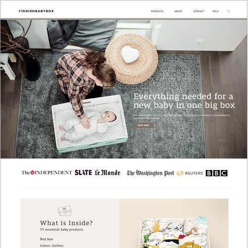 Web design for a Finnish baby store
