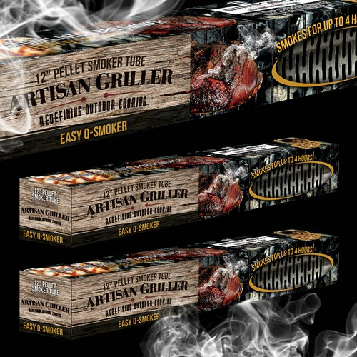 Packaging Design for a bbq smoker