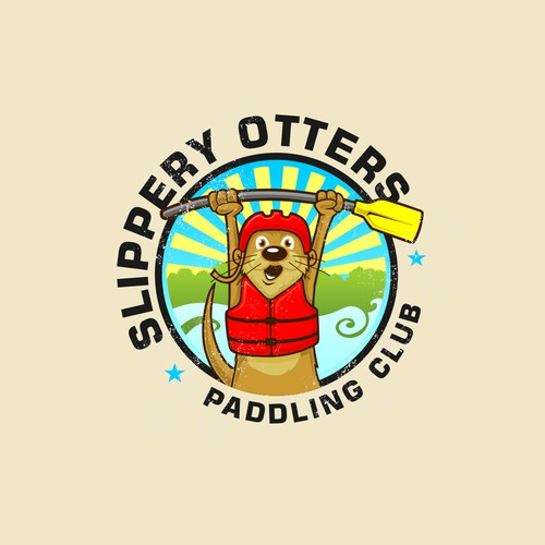 Mascot Logo for Slippery Otters Paddling Club