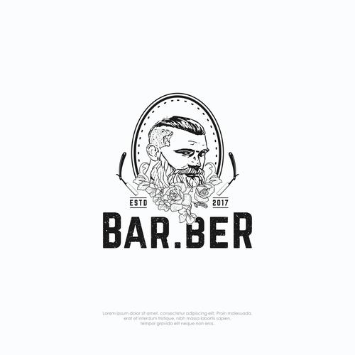 Logo concept for barber