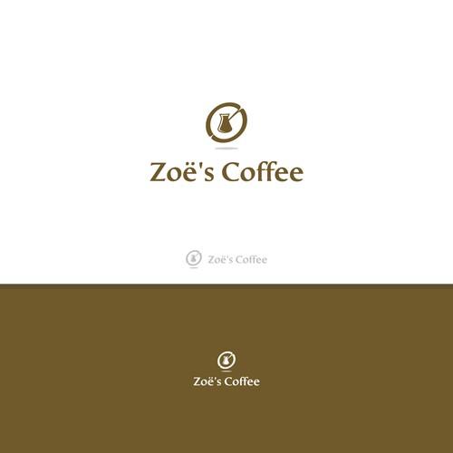 flat design for zoe's coffee