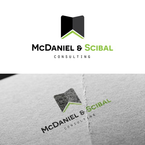 Simple and clean logo concept for McDaniel & Scibaln