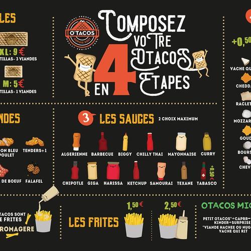 Menu Board Design for Taco Store