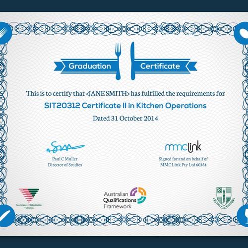Modern Graduation Certificate