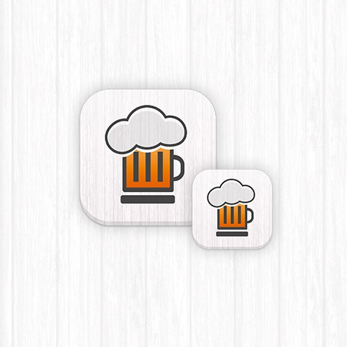 Create an iphone app design for Bleary - a beer info app
