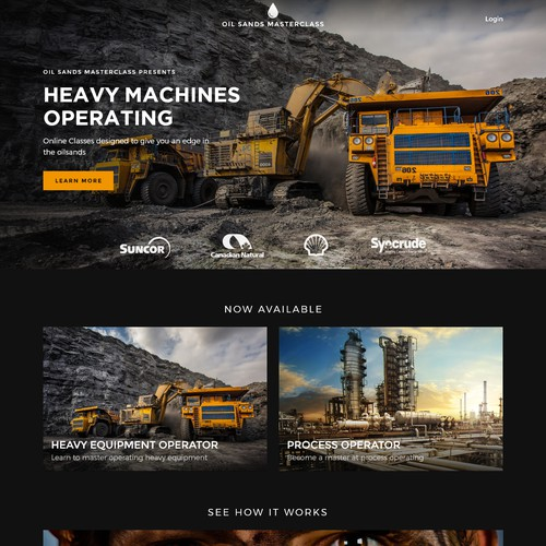 Web design for a construction company