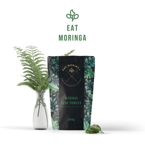 Eat Moringa Leaf Powder Packaging