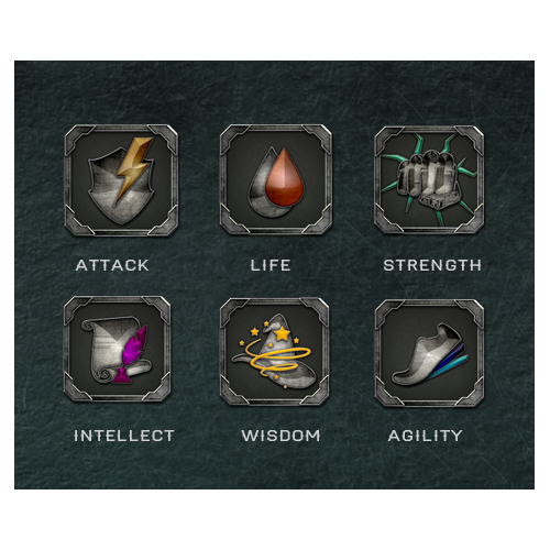 6 ICONS FOR A BOARD GAME