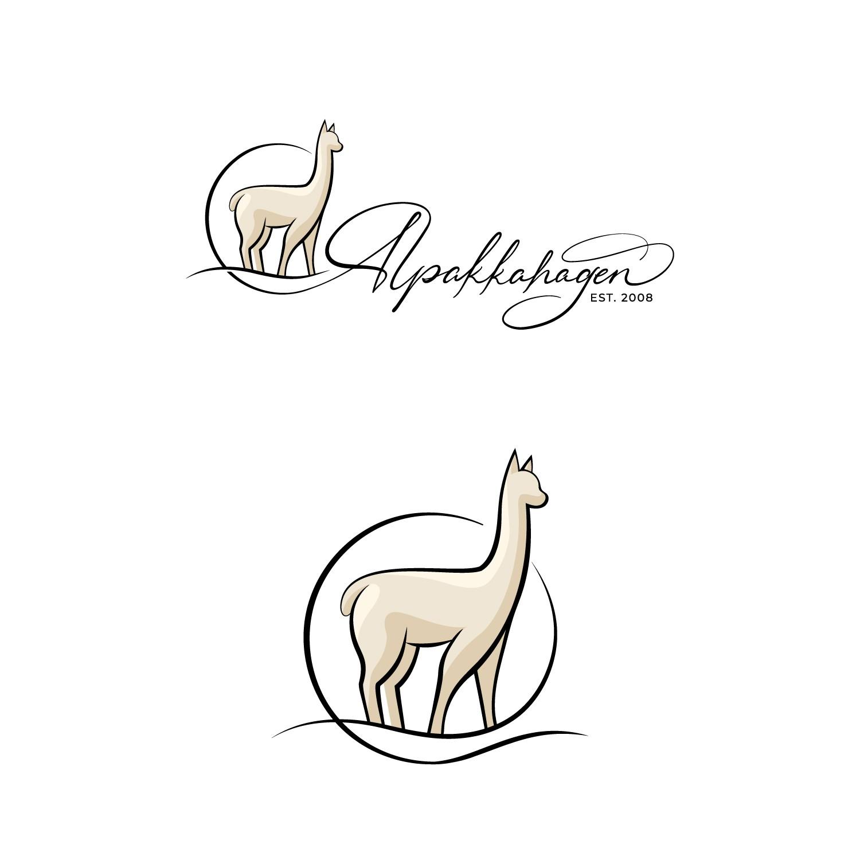 Classy and luxurious logo for high quality alpaca farm