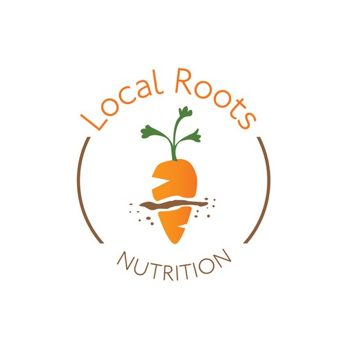 Clean, fun logo for nutrition company