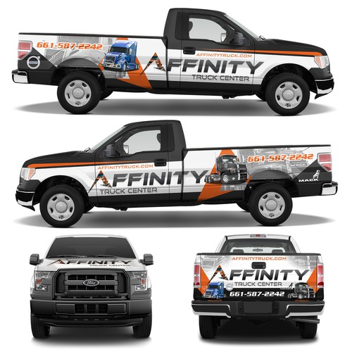 Truck Wrap for Affinity Truck Center
