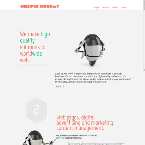 Website Design for Chrisper Economy