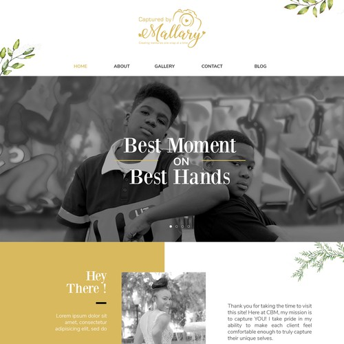Web Design for Photography Service
