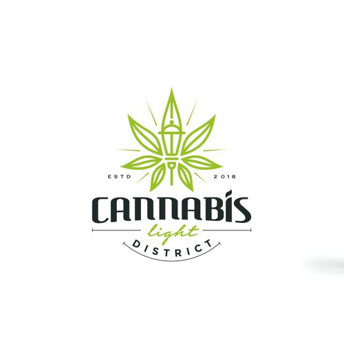 Modern Line Art with a touch of classic logo for a Cannabis Light District