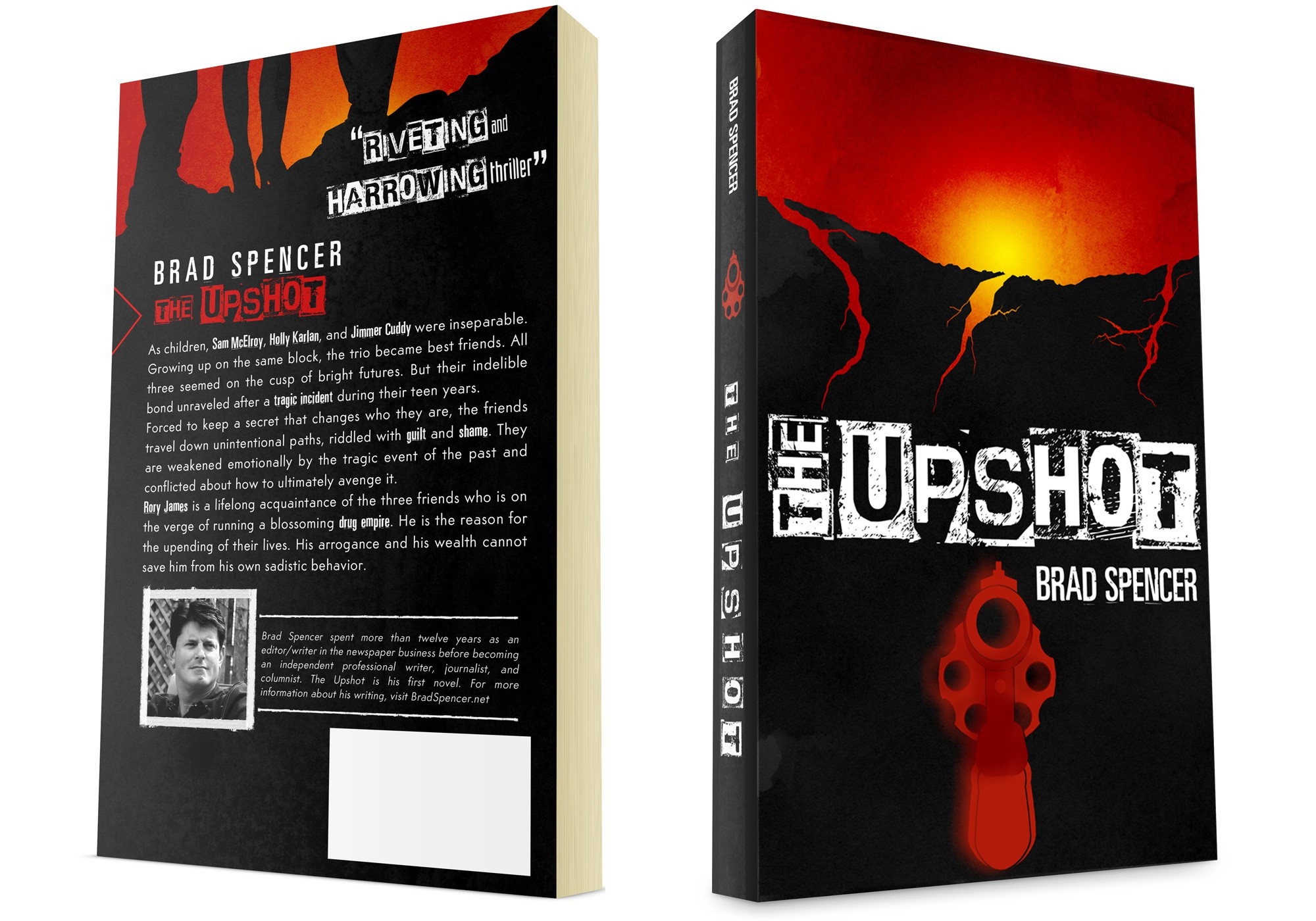 Book cover for a riveting suspense/thriller/crime novel