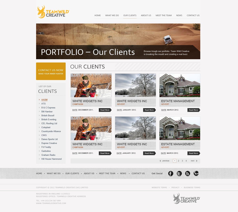 Creative Marketing Agency needs simple, clean web design